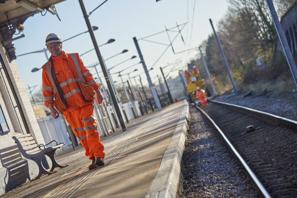 Commercial photography rail network project
